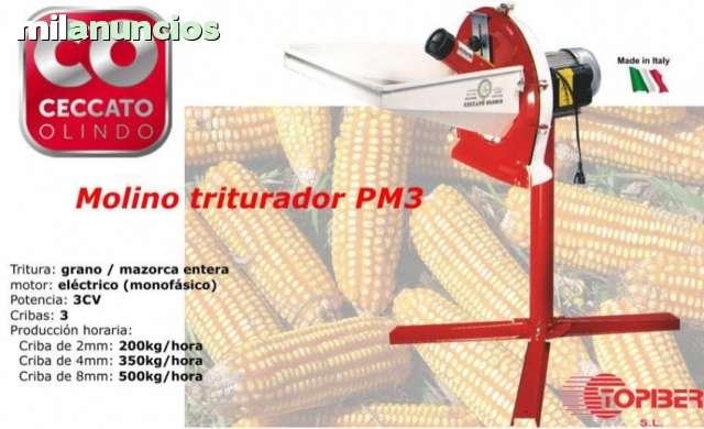 MOLINO TRITURADOR, 3 CRIBAS