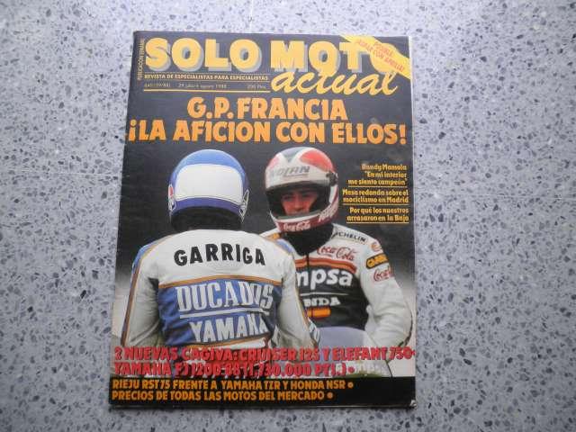 REVISTA SOLO MOTO 1988