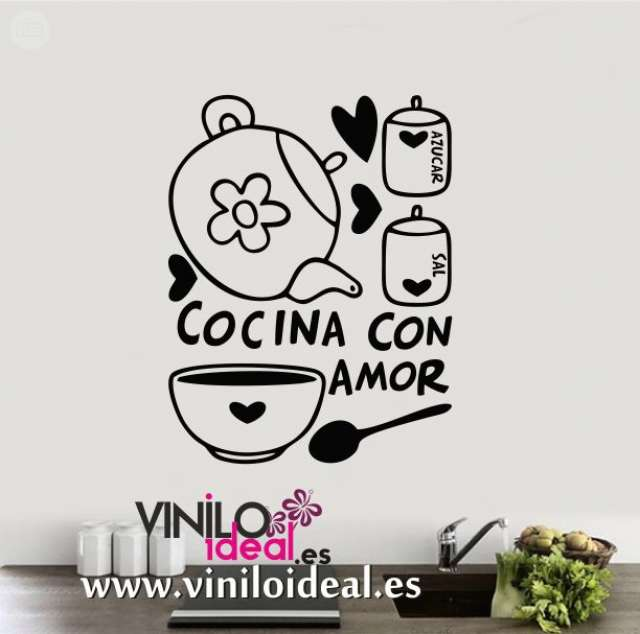 Vinilo Decorativo Cocina Frase