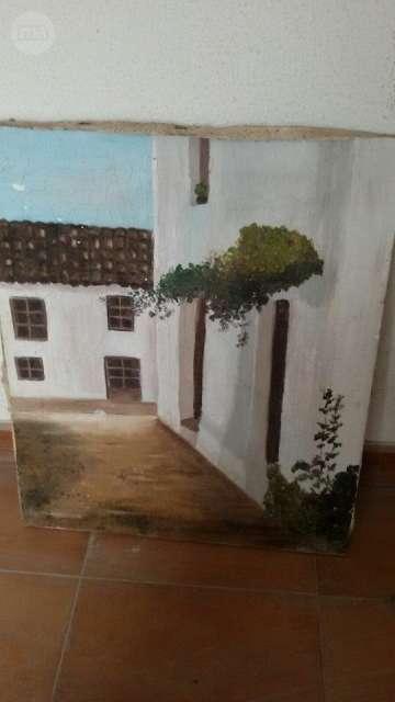 Cuadro Pintado Antiguo