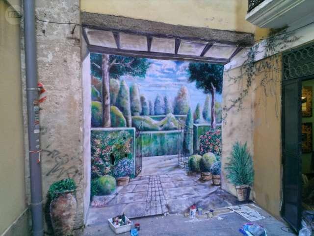 PINTURA MURAL EN LA PARED, GRAFFITI - foto 4
