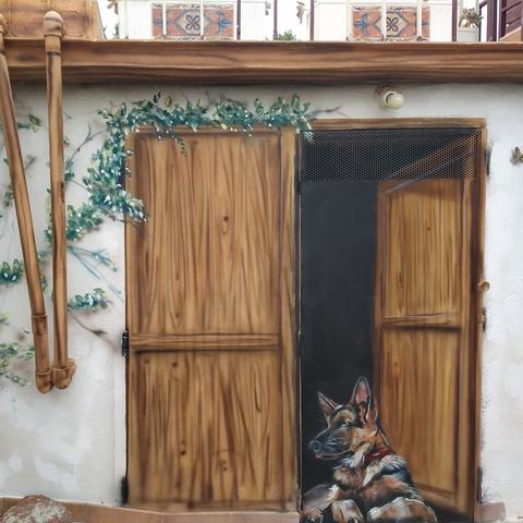 PINTURA MURAL EN LA PARED, GRAFFITI - foto 5