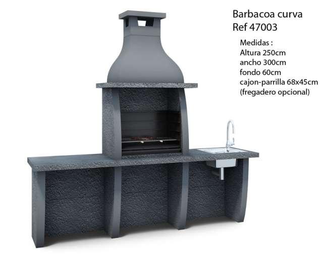 Barbacoa De Obra  Para Leña O Carbon