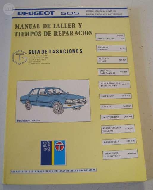 MANUAL DE TALLER PEUGEOT 505 - 1985