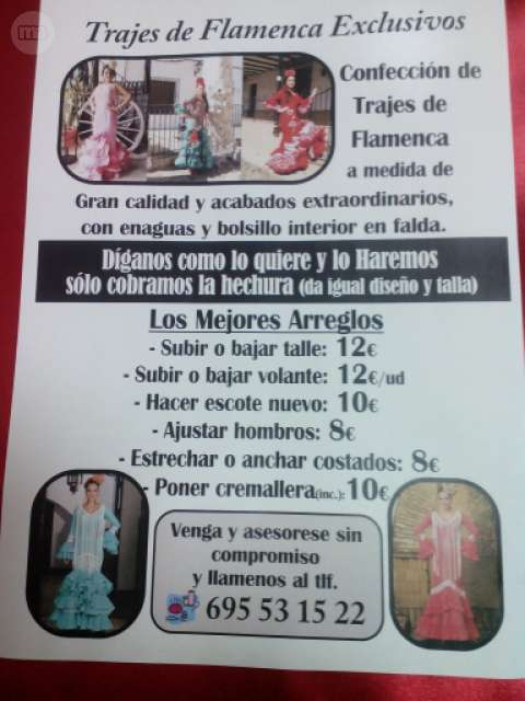 ARREGLOS DE TRAJES DE FLAMENCA