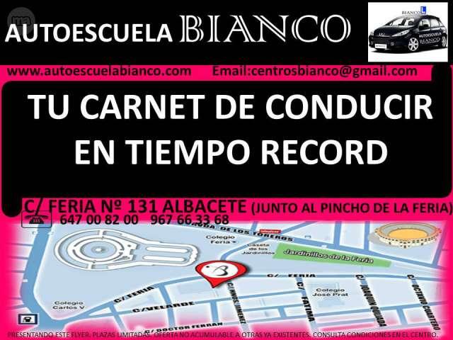 CARNET DE CONDUCIR AUTOESCUELA BIANCO AL - foto 1