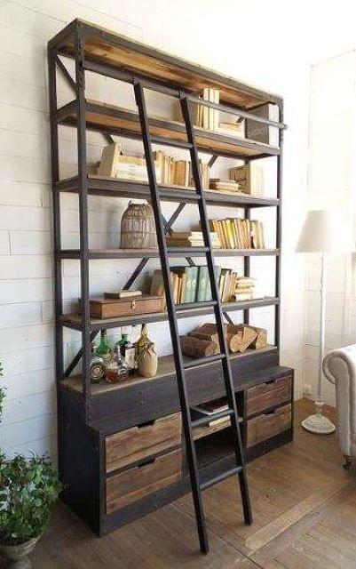 Mil Anuncios Com Libreria Con Escalera Industrial