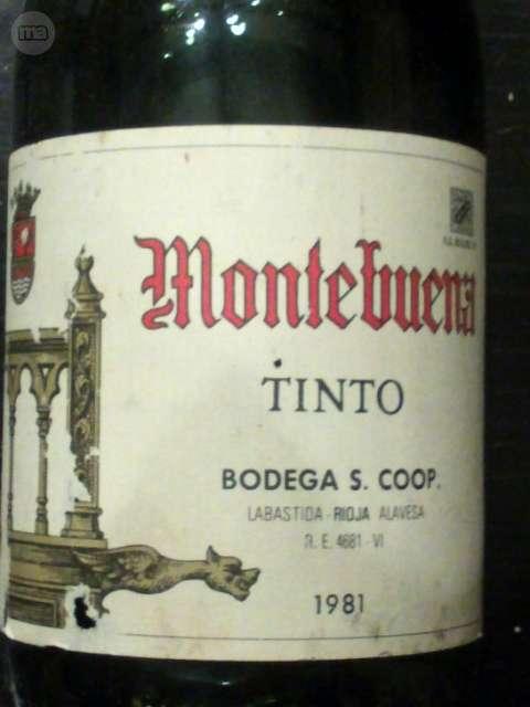 Vino Tinto Montebuena 1981