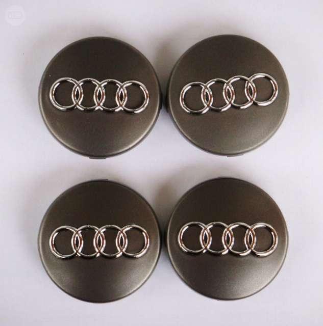 72/mm gris//cromo Audi 4 tapas de llanta
