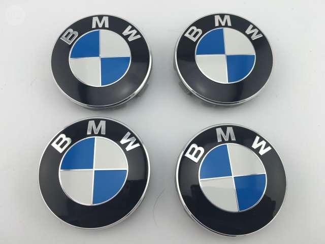 4x EMBLEMA LOGO INSIGNIA BMW DE 56MM Tapas Rueda Llanta Tapacubo E30 E34 E39 E46