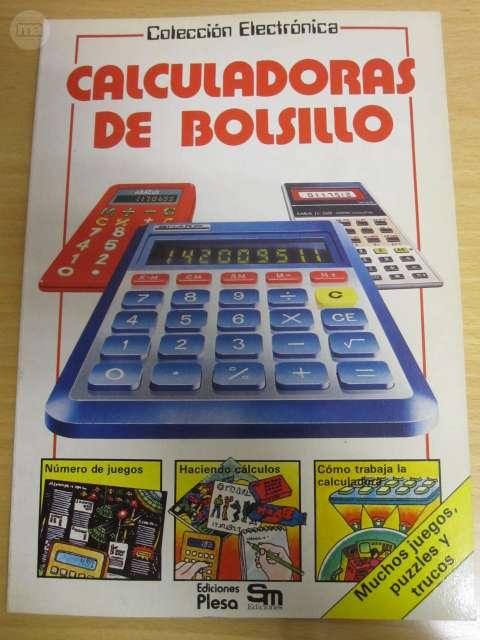ANTIGUO LIBRO CALCULADORAS DE BOLSILLO