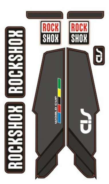Pegatinas Horquilla para Bicicleta Modelo Bike Rock Shox SID 2014 XX Naranja 29