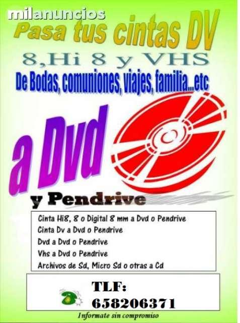 TUS CINTAS VHS A DVD - foto 1