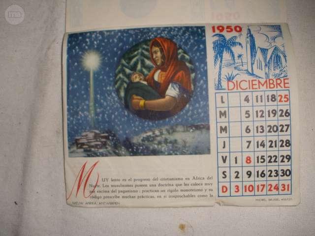 CALENDARIO DE LOS PADRES BLANCOS 1950 LO - foto 4
