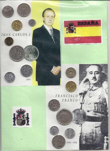 Monedas De Franco Y Juan Carlos I