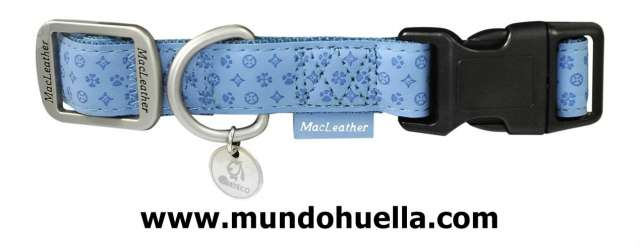 COLLAR PERROS MACLEATHER CELESTE, S