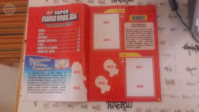 ALBUM DE CROMOS SUPER MARIO BROS