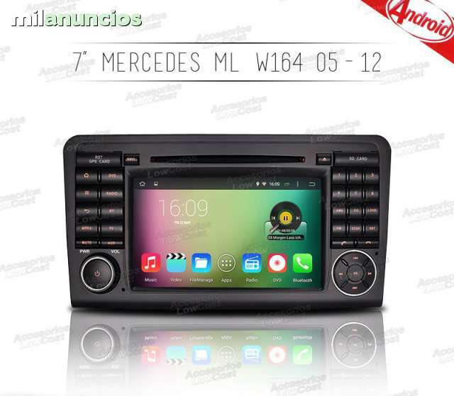 RADIO GPS ANDROID MERCEDES CLASE ML W164