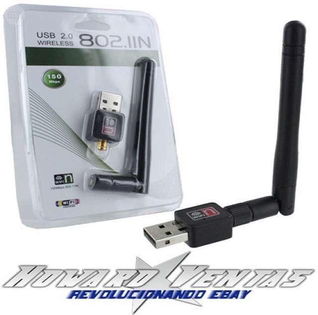 USB ADAPTADOR WIFI ANTENA INALAMBRICO