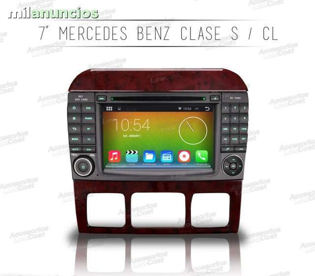 RADIO GPS ANDROID HD MERCEDES CLASE S CL