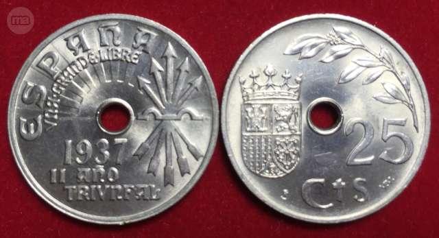 Moneda 1937 Guerra Civil Son Circular
