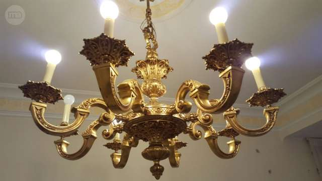 1 LAMPARA DE BRONCE ANTIGUA