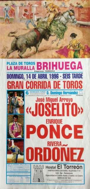 Cartel De Toros En Brihuega  1996.