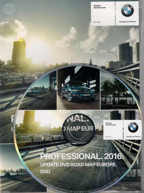 BMW ROAD MAP EUROPA DVD PROFESIONAL 2017