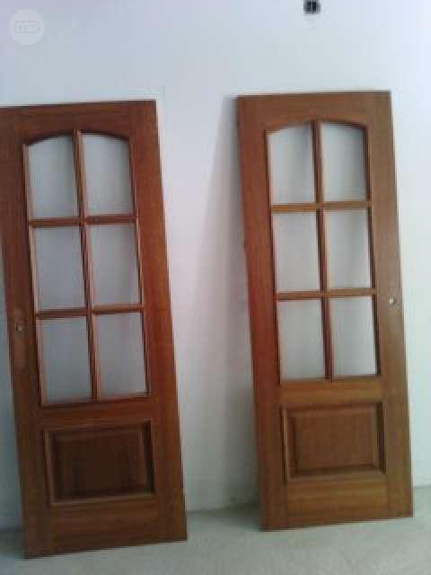 2 Puertas De Paso Acristaladas Cerezo