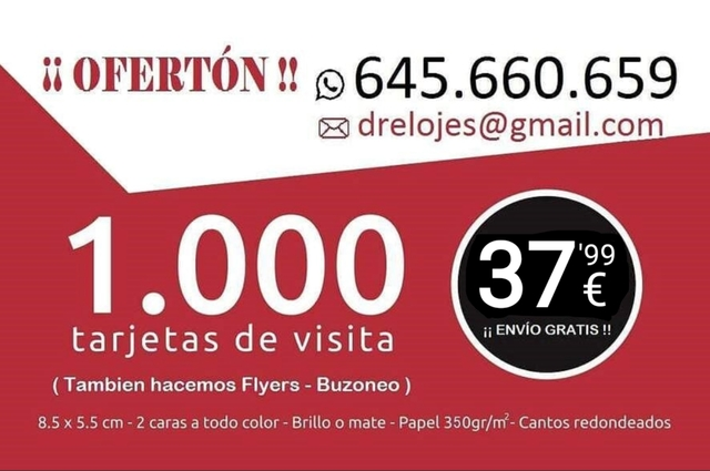 1. 000 TARJETAS DE VISITA.  ENVIO GRATIS! - foto 5