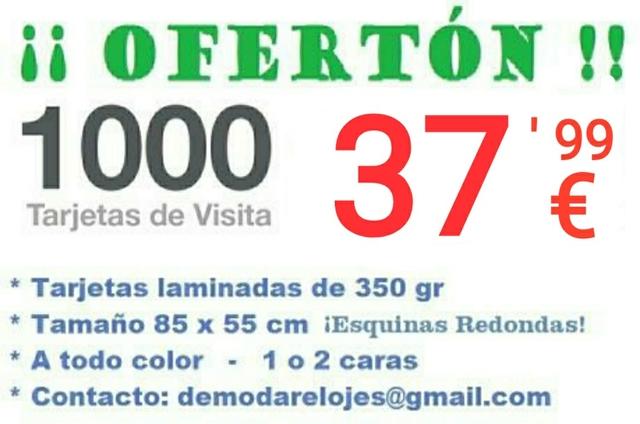 1. 000 TARJETAS DE VISITA.  ENVIO GRATIS! - foto 6