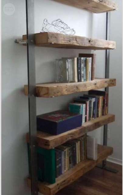 Mil anuncios com estanter a de hierro y madera maciza - Estanterias modulares de madera ...