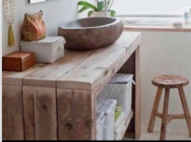 mueble para bao madera maciza reciclada