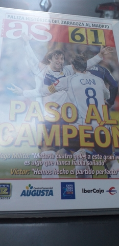 Dvd  Zaragoza 6 Real Madrid 1