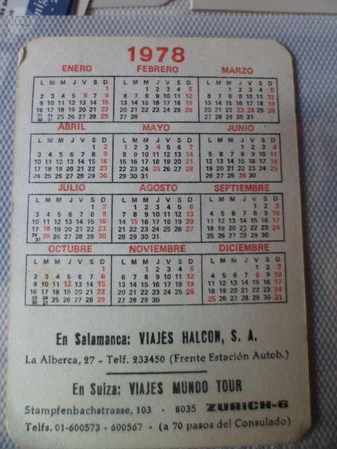 Calendario Enero 1978.Mil Anuncios Com Calendario 1978 Segunda Mano Y Anuncios