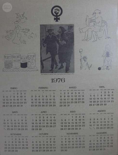Calendario 1976.Calendario 1976 Feminista Ref C0344