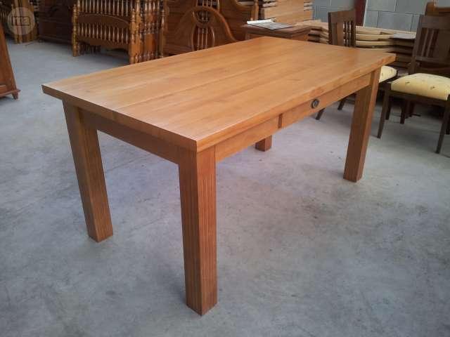 Mesa comedor madera 180 - Mesa madera maciza rustica ...