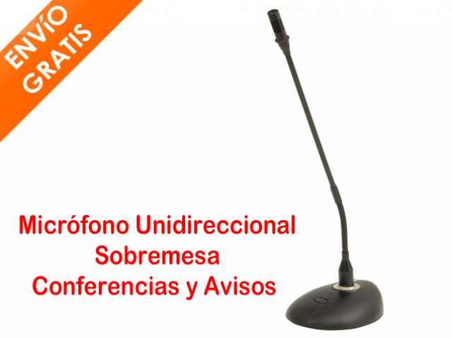 MICROFONO SOBREMESA CONFERENCIA AVISOS
