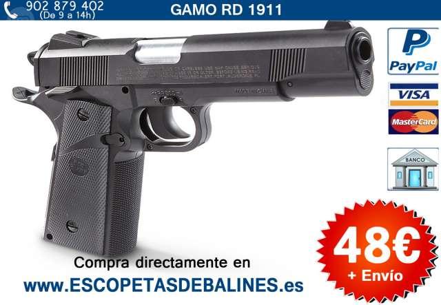 PISTOLA DE BALINES GAMO CALIBRE 4 5