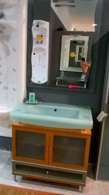 Muebles Bano Lavabo Cristal.Mueble De Bano Con Lavabo De Cristal
