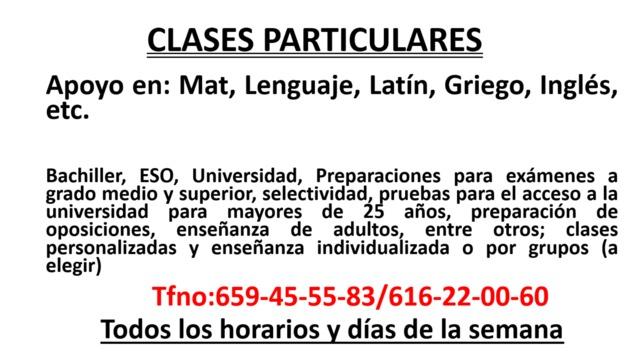 CLASES PARTICULARES SEVILLA VERANO