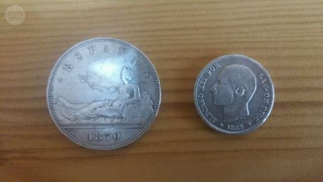 2 Bonitas Monedas Antiguas De Plata: