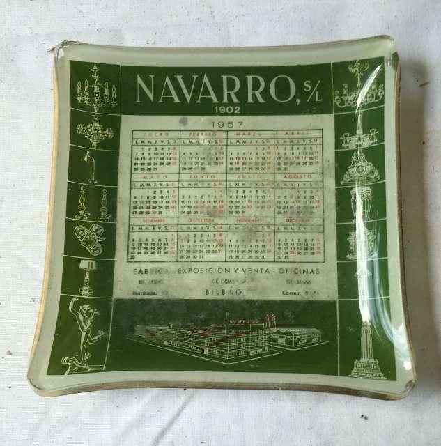 Calendario Del Ano 1957.Cenicero Publicidad Calendario Ano 1957