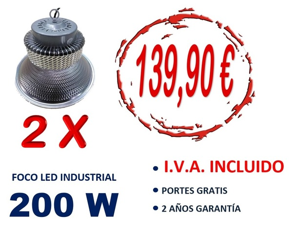 2X CAMPANA LED INDUSTRIAL 150W 6. 500K