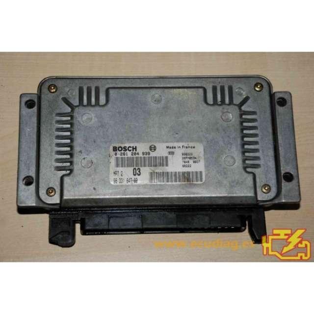 ECU MP7. 2 0261204939 PSA 9633184780