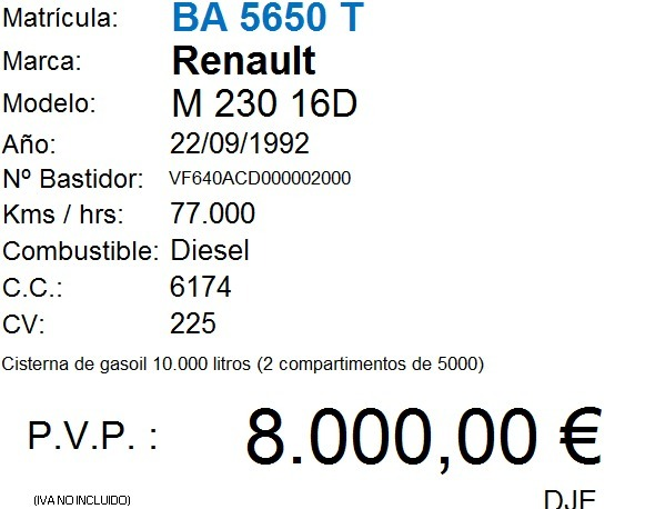 RENAULT - M230 16 D