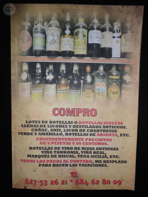 Riojas Antiguos - Compro: Chartreuse