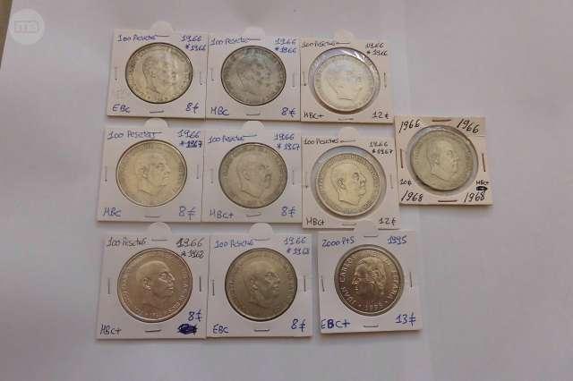 100 PTAS 1966 FRANCO PLATA Y 2000 PTAS