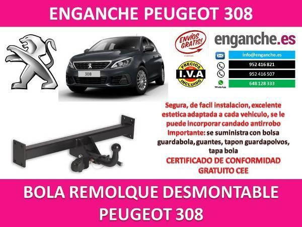 BOLA COCHE REMOLQUE PEUGEOT 308 2016 K7