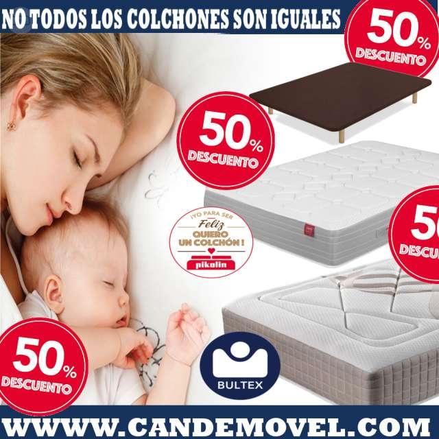OFERTAS DEL 50% EN NUESTROS COLCHONES